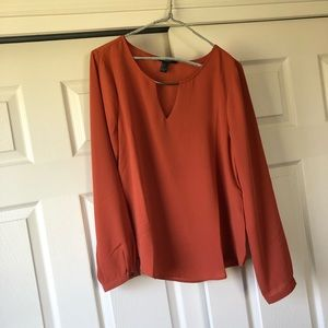 Cut out long sleeve blouse with bar detail